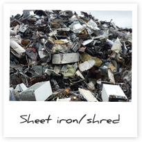 Ferrous Sheet Iron/Shred